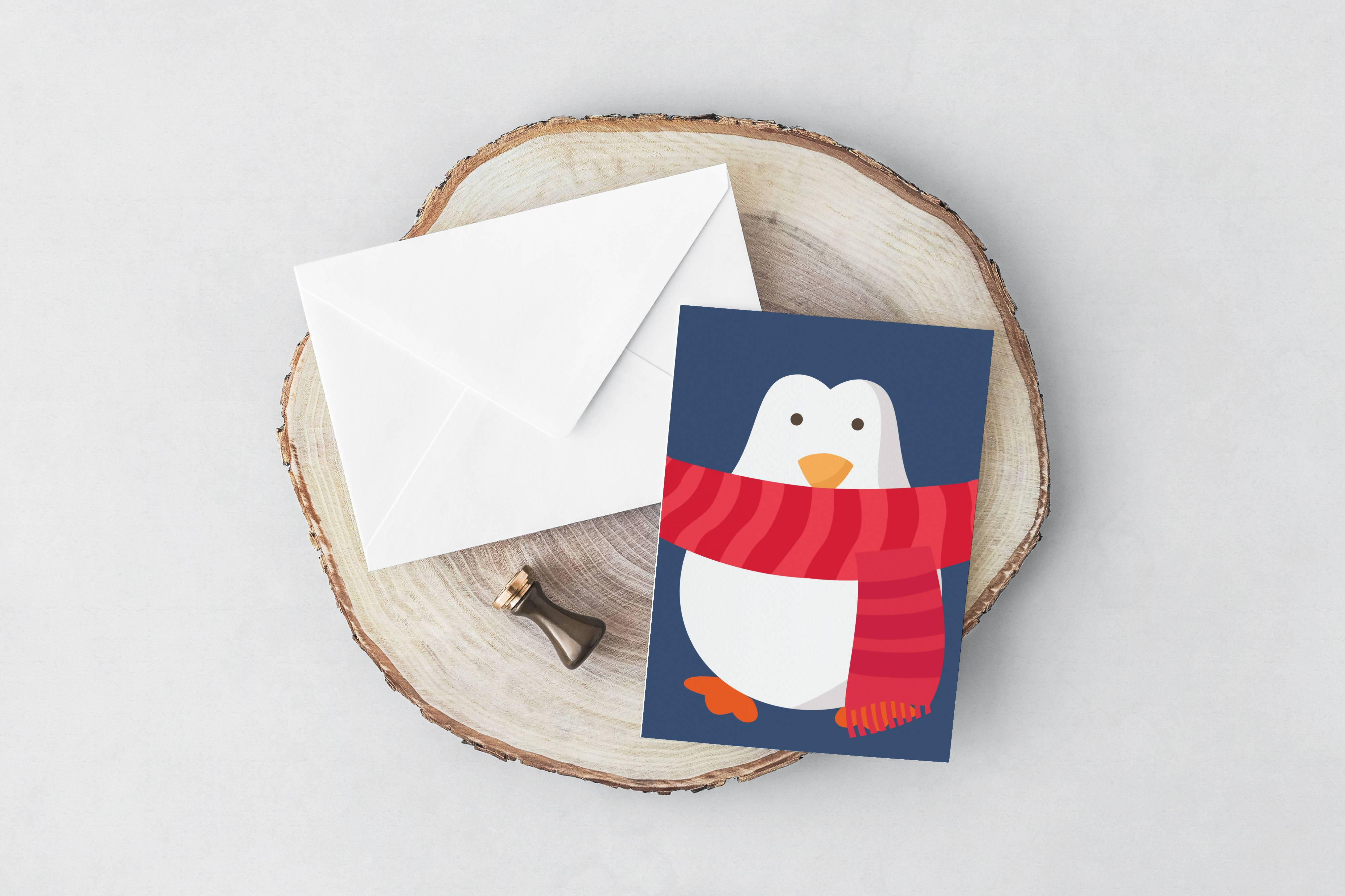 Penguin Christmas Card - Christmas Cards - YOUNIVERSE DESIGN - Naiise
