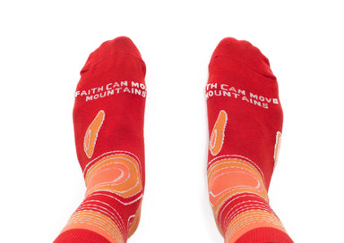 Faith Can Move Mountains Socks Socks Talking Toes