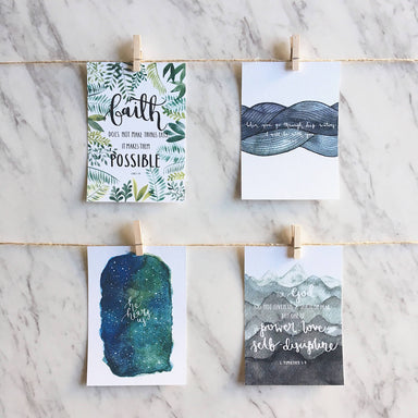 Faith Series | Inspirational Postcards (Set of 4) - Postcards - Papercranes Design - Naiise