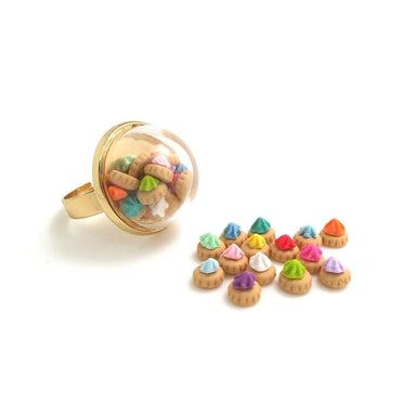 Fancy Gem Globe Ring - Local Rings - thepigbakesclay - Naiise