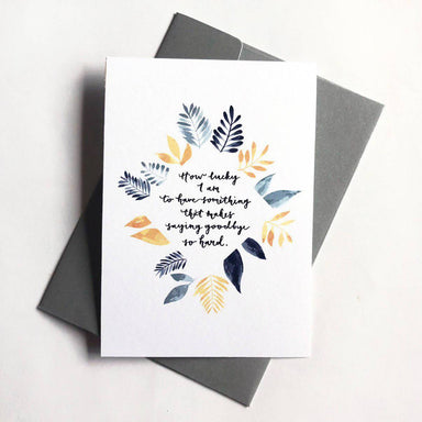 Farewell | Greeting Card - Farewell Cards - Papercranes Design - Naiise