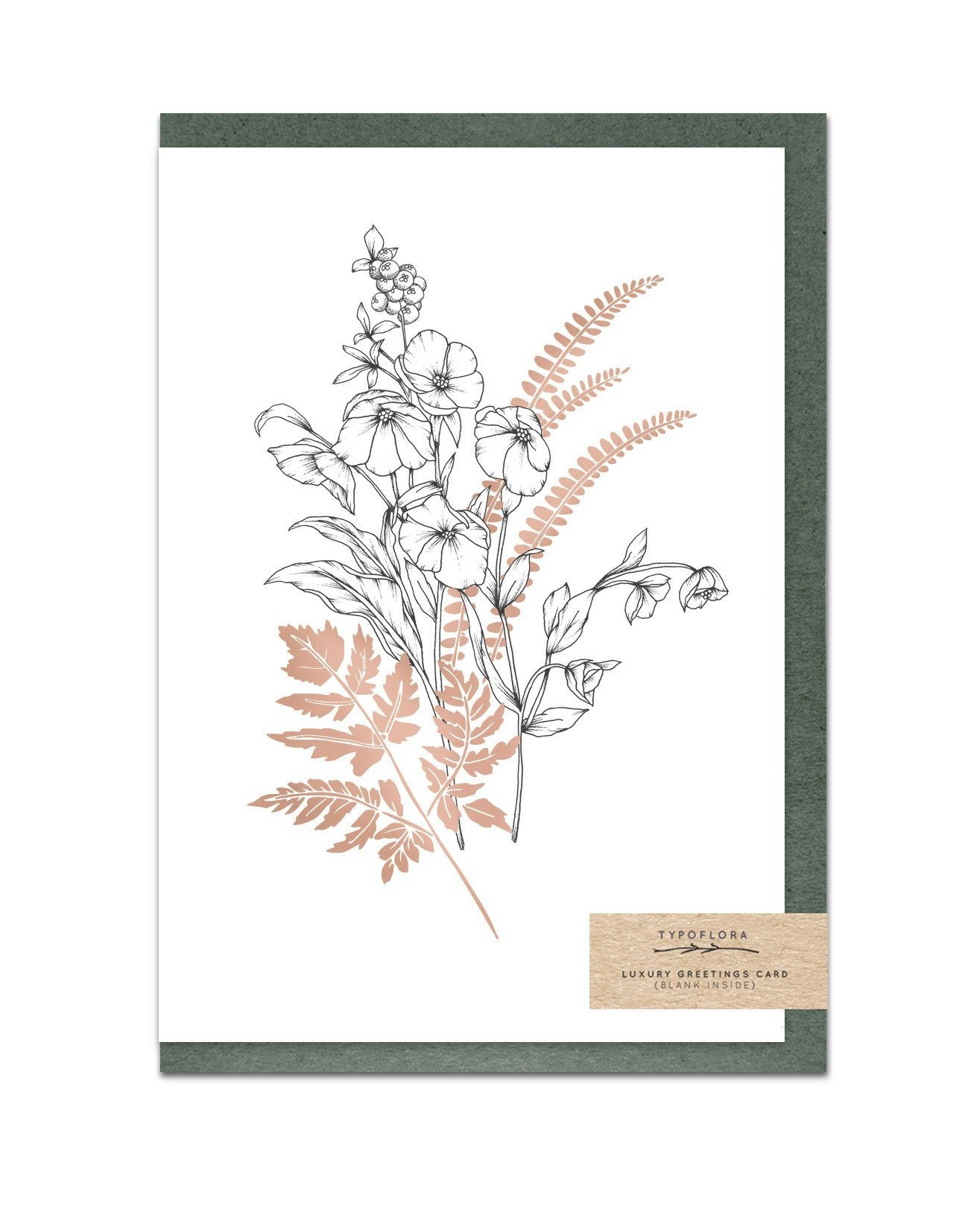 Ferns Enchanted Garden Notecard - Generic Greeting Cards - Typoflora - Naiise