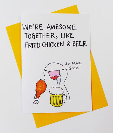 Figure - Awesome Together Card - Love Cards - Steak & Eggs Please - Naiise