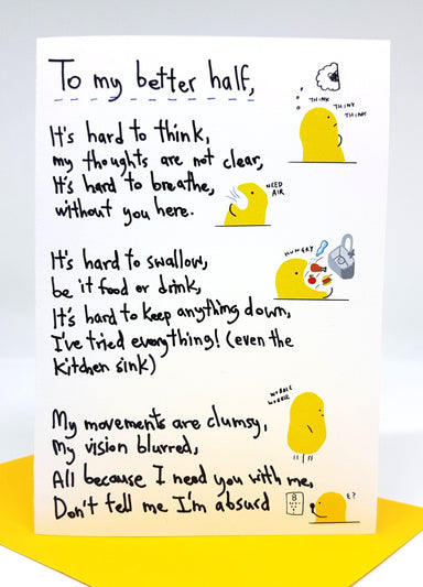 Figure – My Better Half - Love Cards - Steak & Eggs Please - Naiise