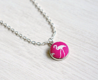 Finn Roseus Handmade Fabric Button Necklace - Necklaces - Paperdaise Accessories - Naiise