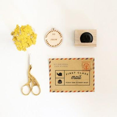 First Class Snail Mail Rubber Stamp - Workspace Tools - Oh, Hello Friend - Naiise