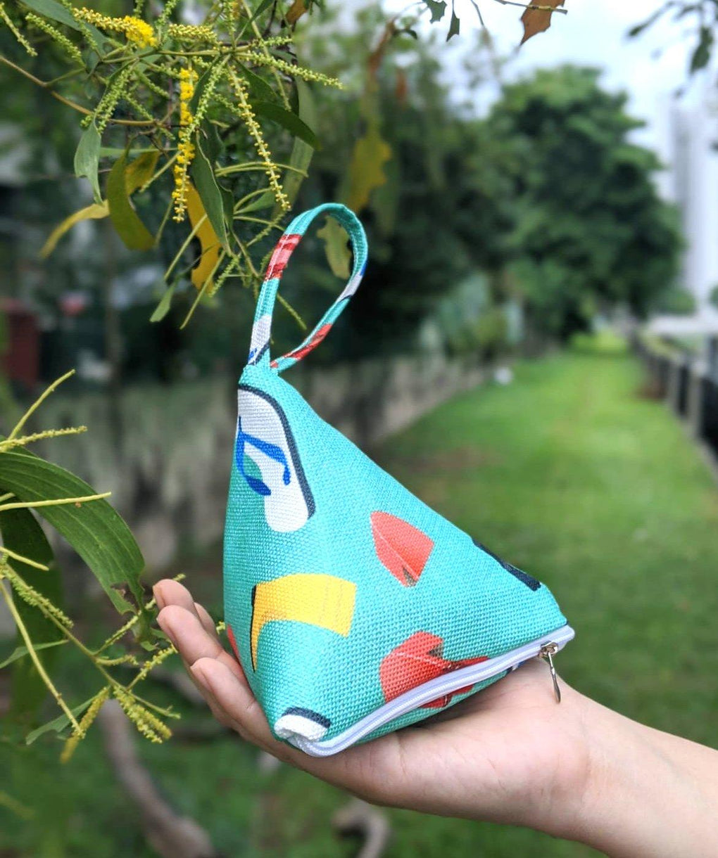Five Stones Pouch Childhood Series Local Pouches sawxnaiise Traditional Shoe (Green)