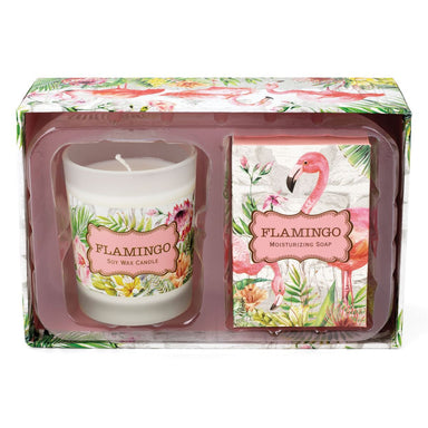 Flamingo Candle & Soap Gift Set Gift Sets Michel Design Works