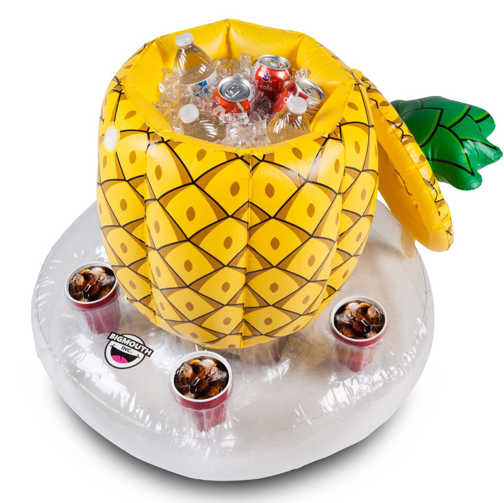 Floating Inflatable Pineapple Beverage Holder Cooler - Floats - BigMouth Inc - Naiise