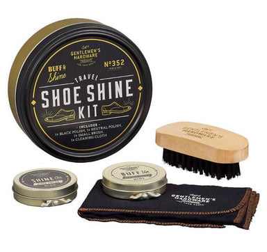 The Gentlemen's Hardware - Shoe Shine Cream (Travel size set) - Shoe Cleaners - The Planet Collection - Naiise