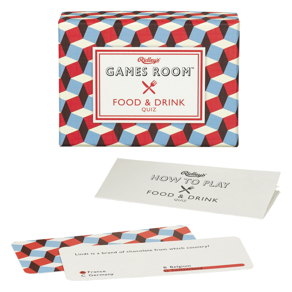 Food & Drink Quiz Card Games RIDLEY