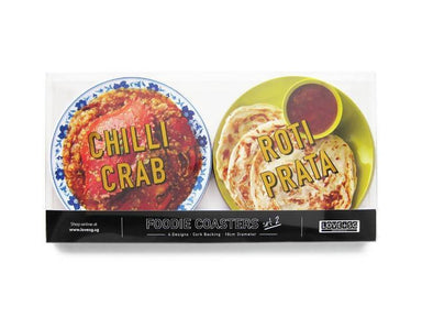 Foodie Coaster Set 2 Local Coasters LOVE SG