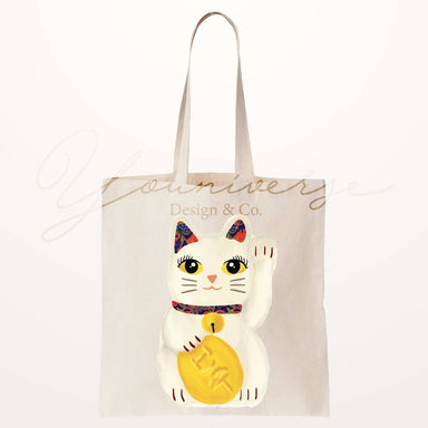 Fortune Cat Kebaya Totebag - Tote Bags - YOUNIVERSE DESIGN - Naiise