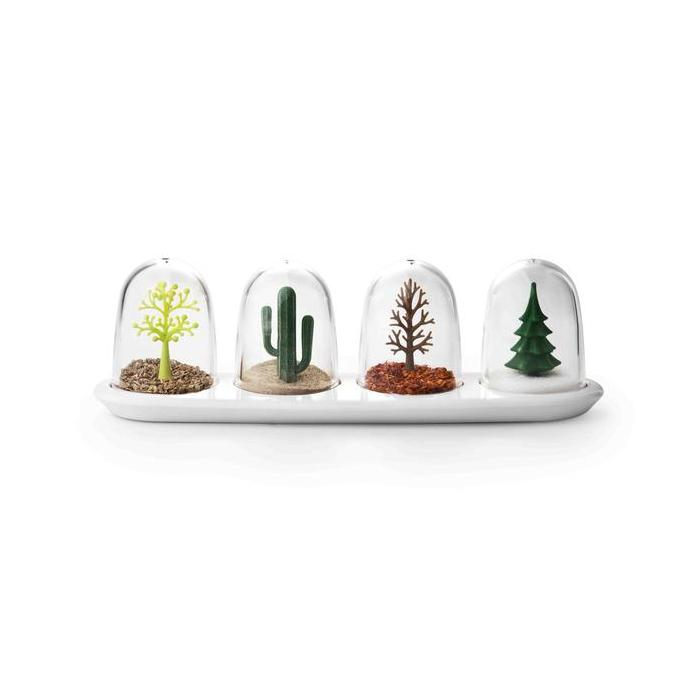 Four Seasons Seasoning Shaker Set Seasoning Holders Qualy