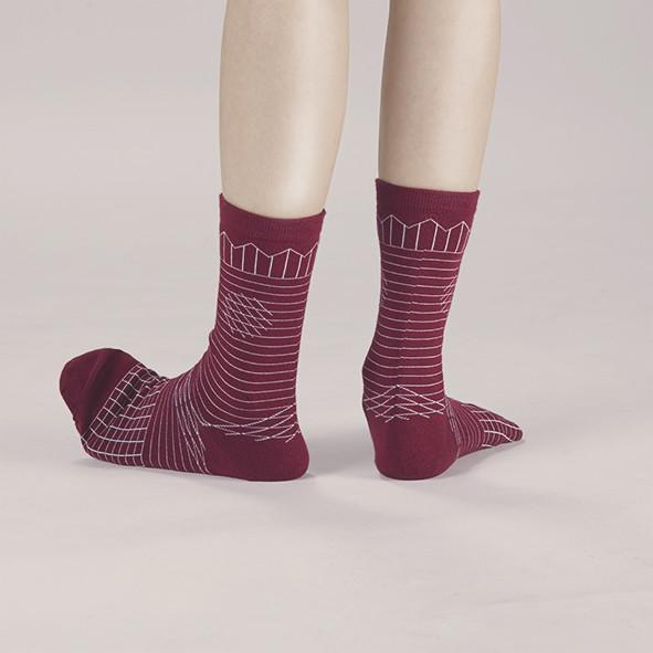 Frolicking in the Crease / A Pinch of Offbeat Socks Socks GoodPair Burgundy