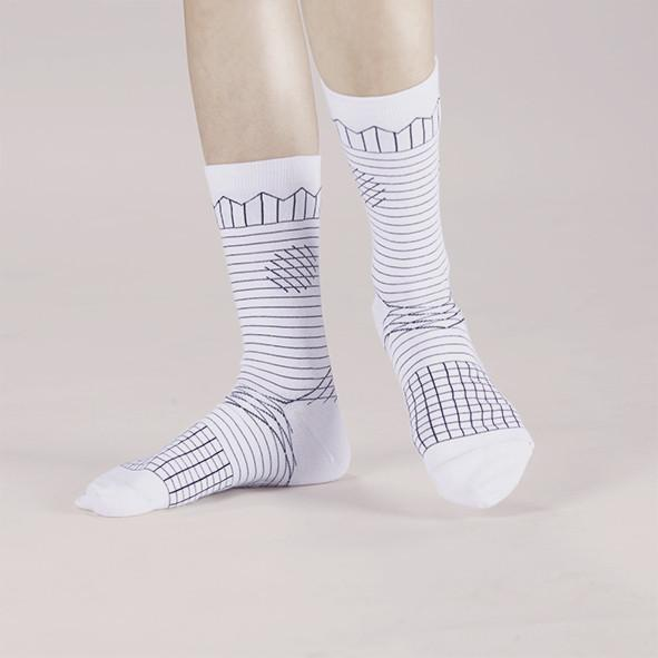 Frolicking in the Crease / A Pinch of Offbeat Socks Socks GoodPair Offwhite