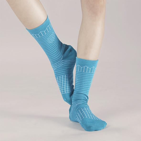 Frolicking in the Crease / A Pinch of Offbeat Socks Socks GoodPair Tropical Green