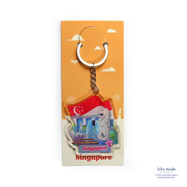 From Singapore, With Love Keychain - KC16 Local Keychains Loka Made