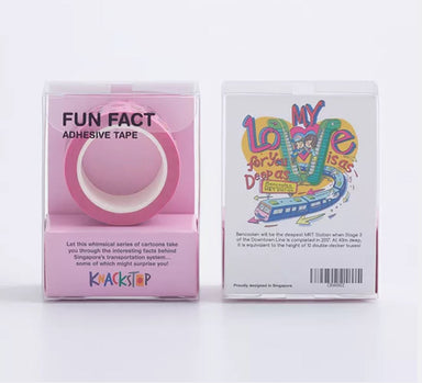 Fun Fact Adhesive Washi Tape: Bencoolen MRT - Washi Tapes - Knackstop - Naiise