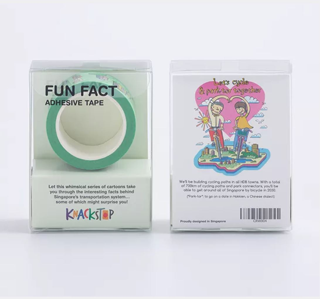 Fun Fact Adhesive Washi Tape: Park-Tor Together - Washi Tapes - Knackstop - Naiise