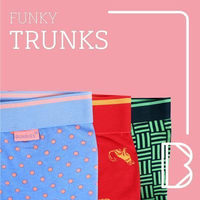 Funky Lenzing Modal Trunk Underwear Bundies