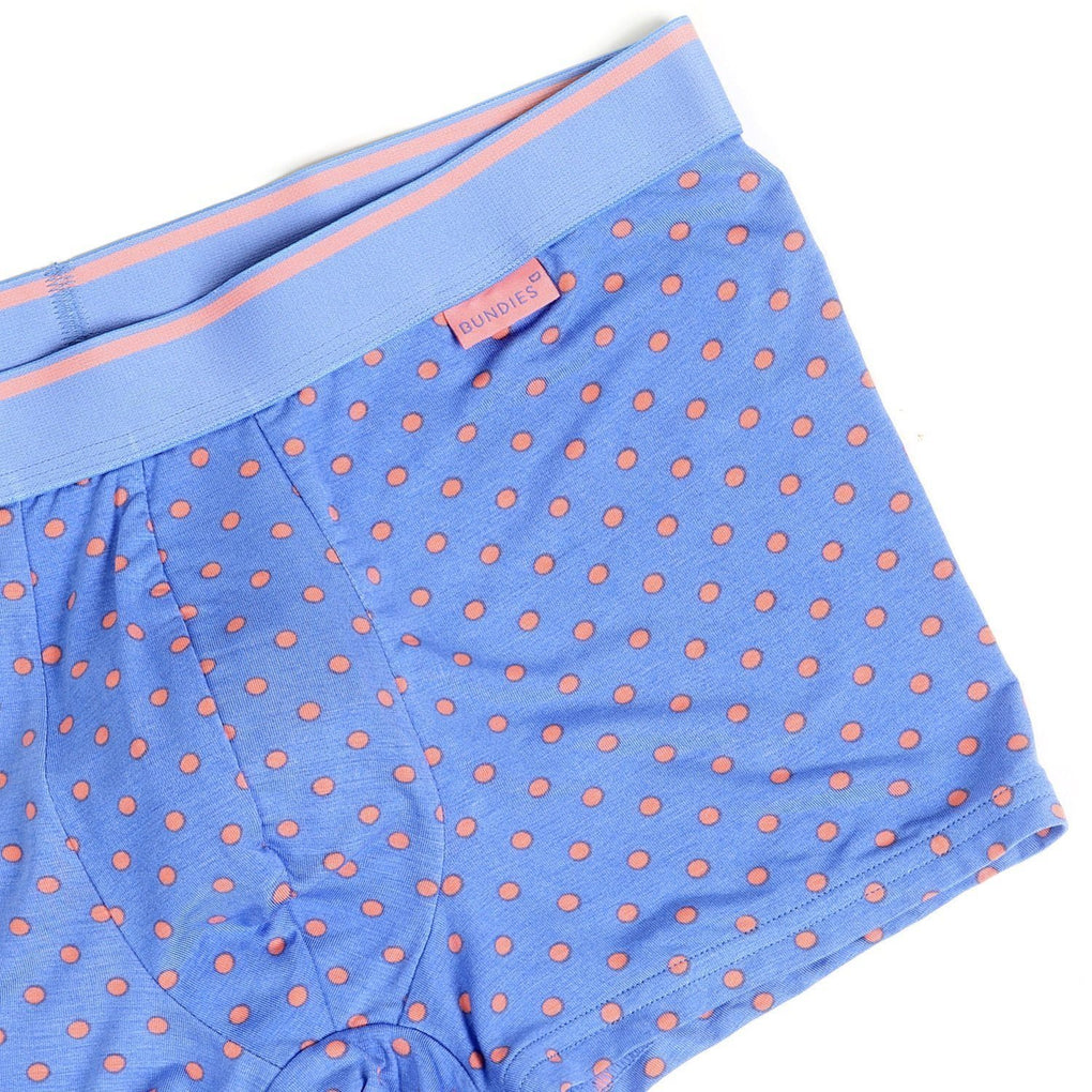 Funky Lenzing Modal Trunk Underwear Bundies Dots Blue XS
