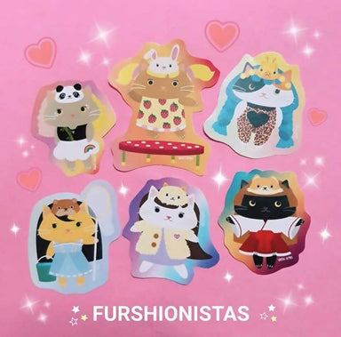 Furshionistas - 6 Pcs Sticker Pack Stickers Sinful Cuties