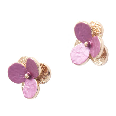 Viola - Rose Gold Plated Flora Earrings - Earring Studs - Forest Jewelry - Naiise
