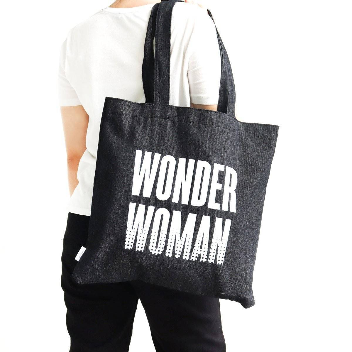 Wonder Woman Denim Tote Bag - Tote Bags - Ok Can Lah - Naiise