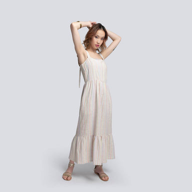 Gabriella Sundress in Striped Linen - Dresses - Akosée - Naiise