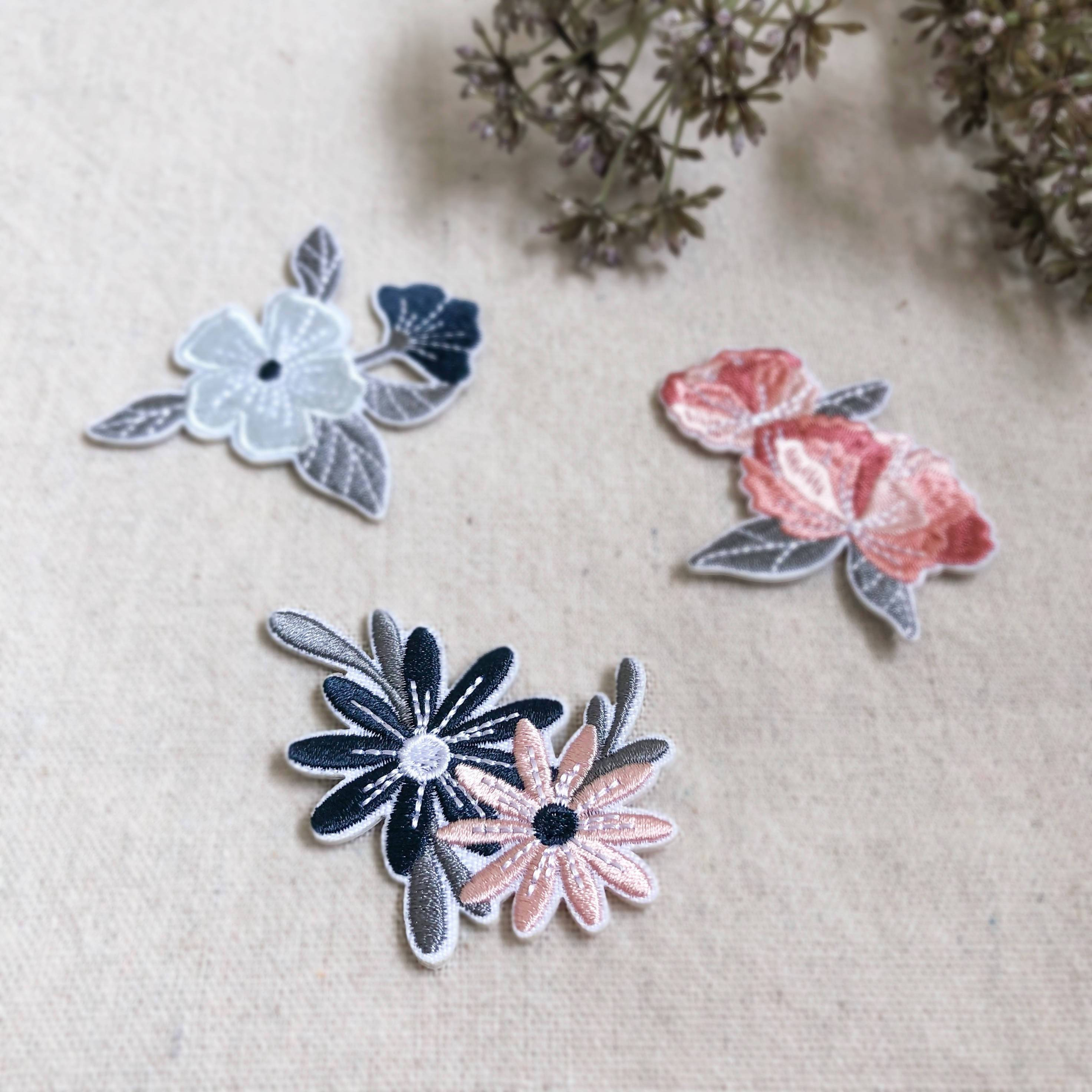 Garden Blooms | Floral Embroidery Iron-on Patch - Iron On Patches - Papercranes Design - Naiise