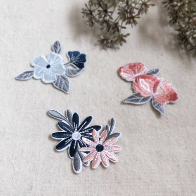 Garden Blooms | Floral Embroidery Iron-on Patch - New Arrivals - Papercranes Design - Naiise