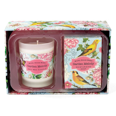 Garden Melody Candle & Soap Gift Set Gift Sets Michel Design Works