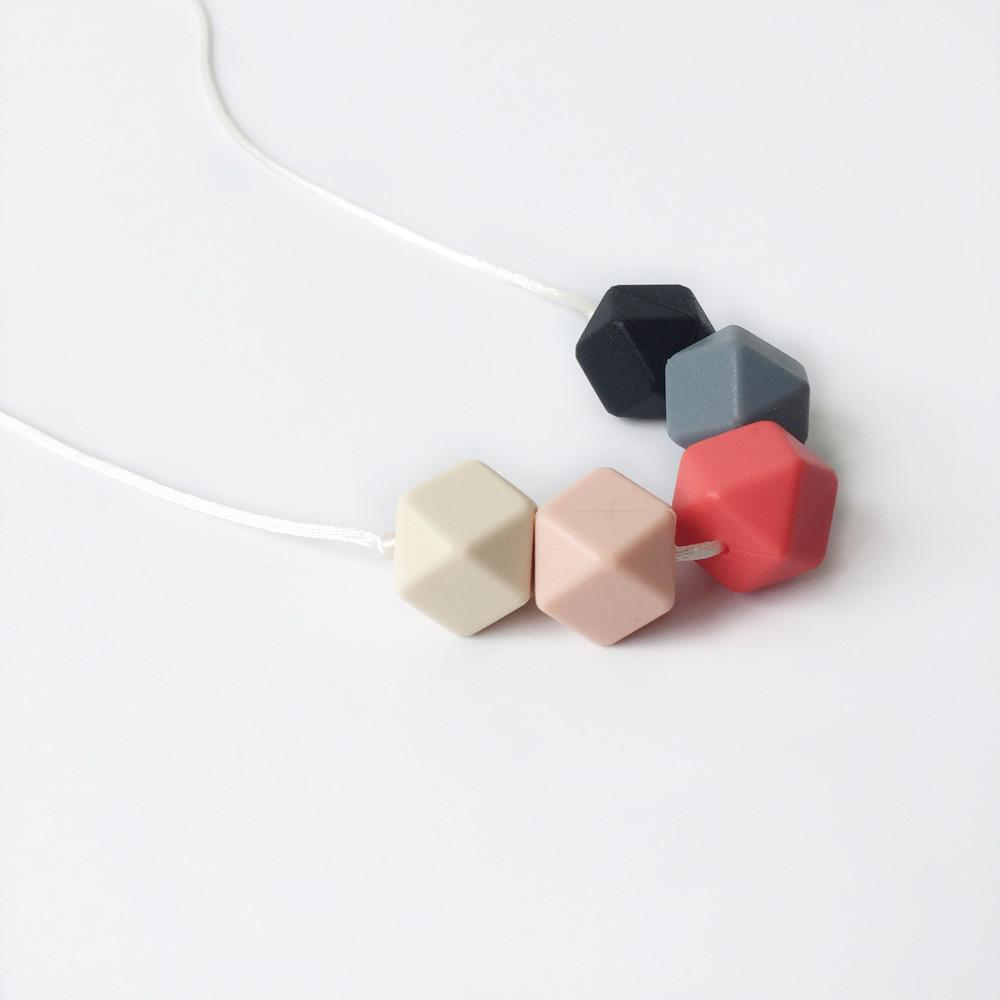 Geo Silicone Necklace - Ruby Necklaces Anders & Dawn