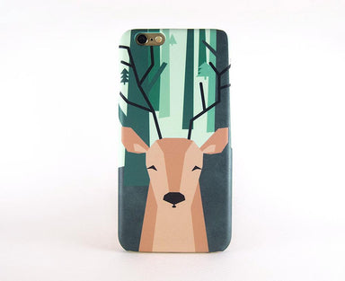 Geometric Deer Phone Case iPhone 7 Plus - Phone Cases - Emaley - Naiise