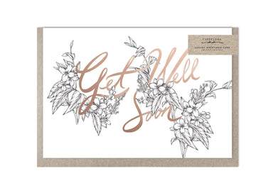Get Well Soon Floral Greeting Card - Get Well Soon Cards - Typoflora - Naiise