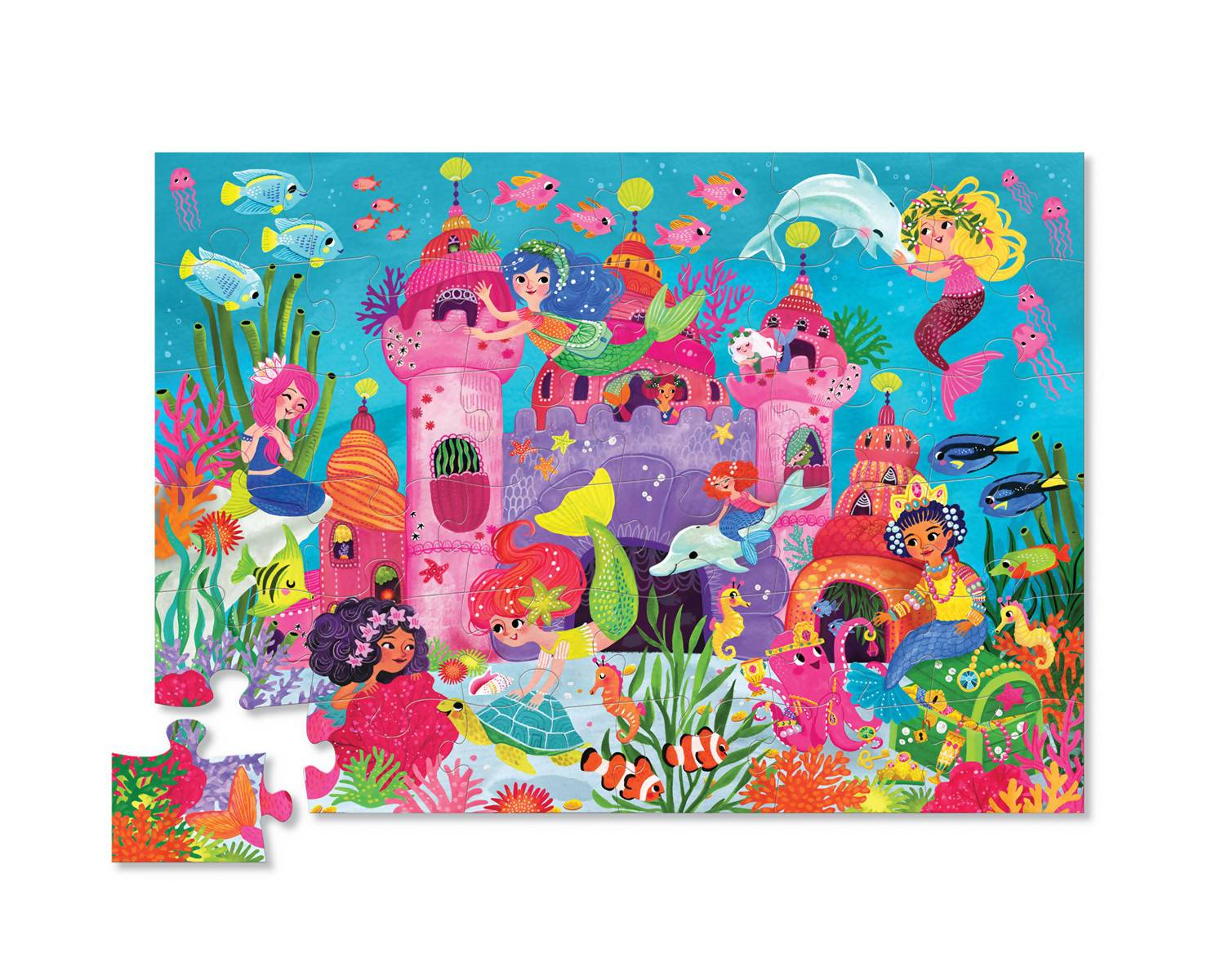 36-pc Puzzle - Mermaid Palace - Kids Puzzles - The Children's Showcase - Naiise