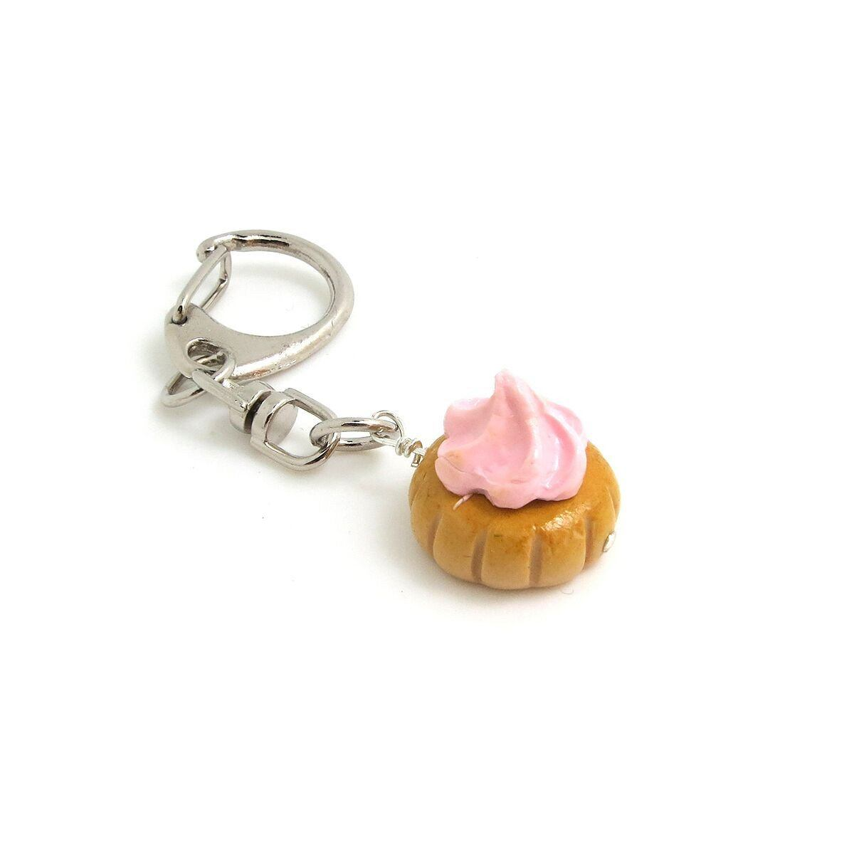 Giant Gem Keychains Local Keychains thepigbakesclay Pastel Pink