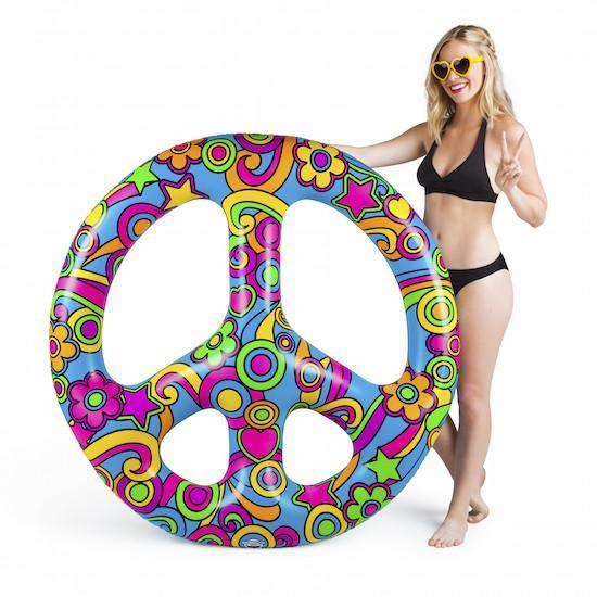 Giant Peace Sign Pool Float Floats BigMouth Inc