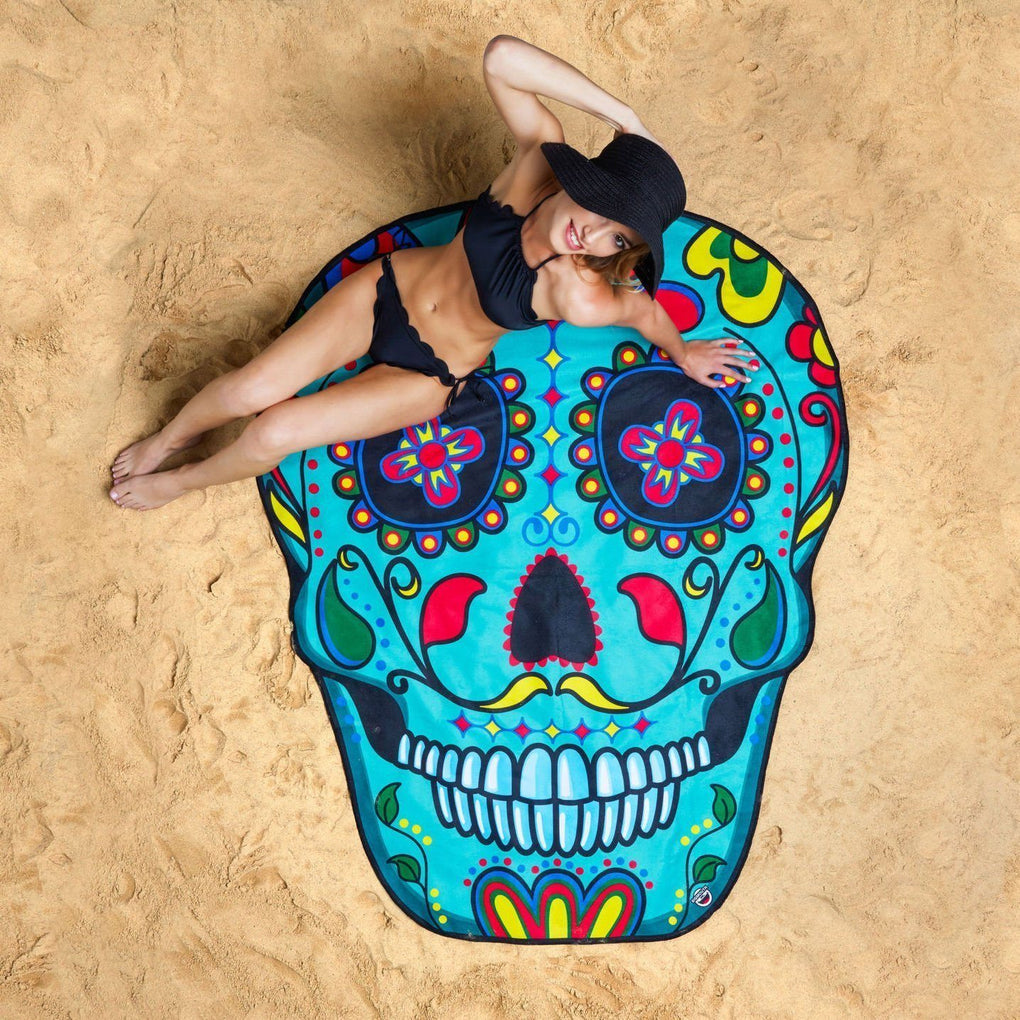Giant Sugar Skull Beach Blanket Beach Blankets BigMouth Inc Default Title