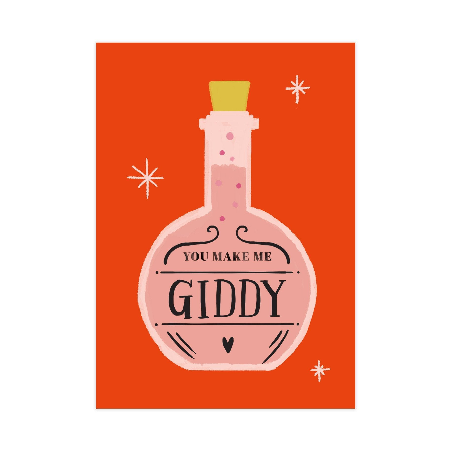 Giddy Potion Card - Love Cards - Pine on Paper - Naiise