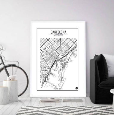 Global Series - Barcelona Map - Maps - URBAN X MAPS - Naiise