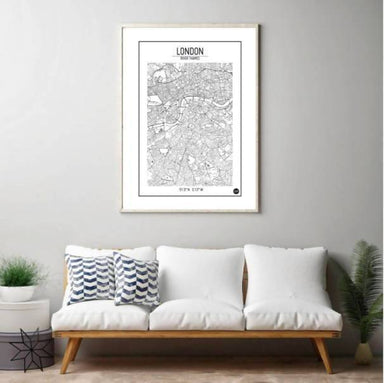 Global Series -London Map - Maps - URBAN X MAPS - Naiise