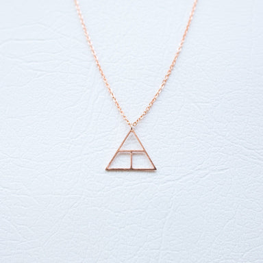Glyph Necklace - Create (Rose Gold) Necklaces xhundredfold