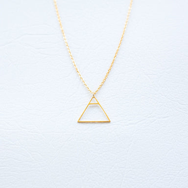 Glyph Necklace - Explore (Gold) - Necklaces - xhundredfold - Naiise