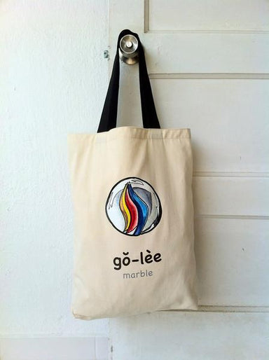 """Go-Lee"" Marble Tote Bag - Local Tote Bags - Sibeynostalgic - Naiise"