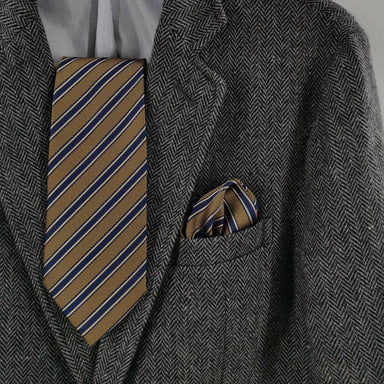 Gold And Blue Set - Ties - Tuesday Evening - Naiise