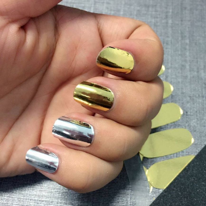 Gold Chrome Nail Wrap - Nail Wraps - Personail - Naiise