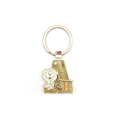 Gold Merlion Alphabet Keychain - A Local Keychains Guardian Angel
