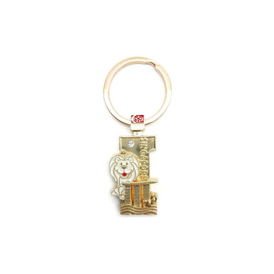Gold Merlion Alphabet Keychain - I Local Keychains Guardian Angel